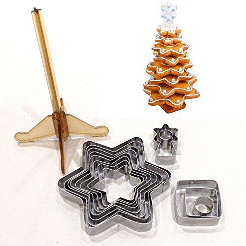 Juego de moldes para galletas Árbol de Navidad de 16piezas