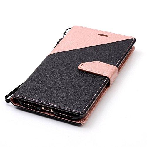 iPhone 7 Plus Hülle,iPhone 7 Plus Leder Case,Sunroyal PU Leder Brieftasche Schutzhülle Tasche Handyhülle Schutz Hüllen im Bookstyle Ledertasche mit Stand Funktion Kartenfächer Magnetverschluss Magnet  Pattern 08