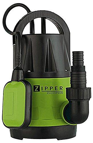 ZIPPER ZI-CWP400 - BOMBA DE AGUA (10M  220 X 160 X 310 MM  3 95 KG  50 HZ  230V) NEGRO  VERDE