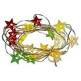 Bunte LED Mini- Lichterkette mit 20 leuchtenden Sternen batteriebetrieben. Traumhafte Weihnachtsdekoration!