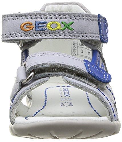 Geox B Kaytan B F, Sandales bébé fille Gris (Lt Grey/Royal)
