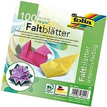 folia 8915 - Faltblätter 15 x 15 cm, 70 g/qm, 100 Blatt sortiert im 10 Farben