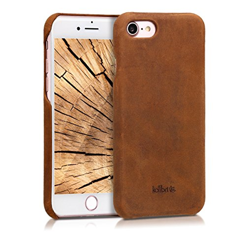 kalibri Apple iPhone 7/8 Hülle - Leder Handy Cover Case - Hardcover Schutzhülle für Apple iPhone 7/8 - Hardcover Case