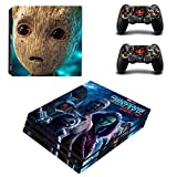 Playstation 4 Pro + 2 Controller Aufkleber Schutzfolien Set - Guardians of the Galaxy 2 /PS4 P