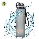 Botella de Agua Deporte 1 Litro Sin BPA Tritan Plastico, Reutilizables a Prueba de...