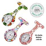 Tillmann's Reloj Enfermera 3 unidades - Relojes De Enfermera - Reloj Bolsillo Enfermera - Relojes De...