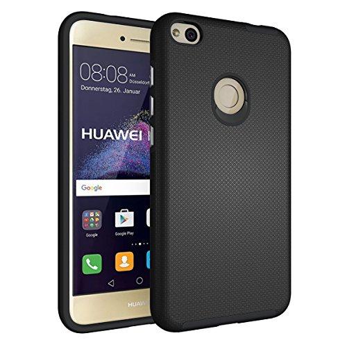 Slynmax Coque Huawei P8 Lite 2017 Noir,Coque Huawei P8 Lite 2017 [avec Un Stylo Tactile], Luxe Mode Housse TPU Slim Bumper Souple Silicone Etui Housse de Protection Flexible Soft Case Cas Couverture