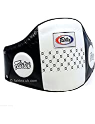 Fairtex Pro Muay Thai Protector de vientre de cuero pantalla–protector Abdominal