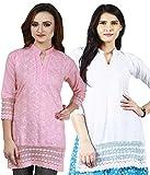 Haniya Women's Cotton Kurti (KSSCCWH_PK_...