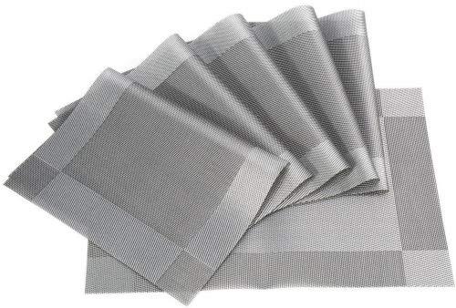 Meersee Juego 6 Mantel individual PVC lavables, resistentes