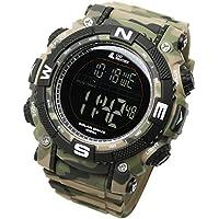 [LAD WEATHER] Reloj Digital Potente batería Solar Sumergible 100 Metros Militar Exterior Reloj Inteligente (cmgr-BK)