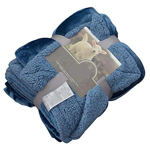 Wcccw coperta in microfibra, pile morbido - coperta d'agnello a doppio strato, coperta doppia singola imbottita, coperta di pile corallo-200 * 230 centimetri