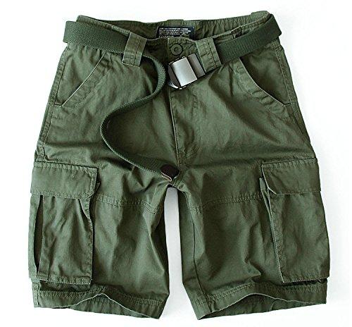 WDDGPZDK Strand Shorts/Männer Kurzen Strand Mens Cargo Baggy Shorts Mit Mehreren Taschen Baumwolle Kurze Männliche S-3Xl 235, Licht, Ohne Gürtel, L -
