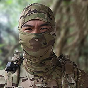 Ouneed Cagoule Balaclava Masque Camouflage Protection Complet pour Airsoft Cyclisme Moto