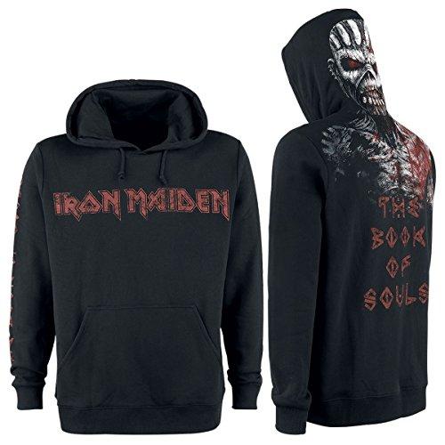 Iron Maiden The Book of Souls Eddie Hooded Sweatshirt Black