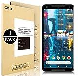 Google Pixel 2 XL Pellicole protettive, Vigeer [1 Pack] [0,3mm, 2,5D] [Senza bolle] [Durezza 9H] [Facilità di installazione] [HD Clear] Protezione dello schermo in vetro temprato per Google Pixel 2 XL