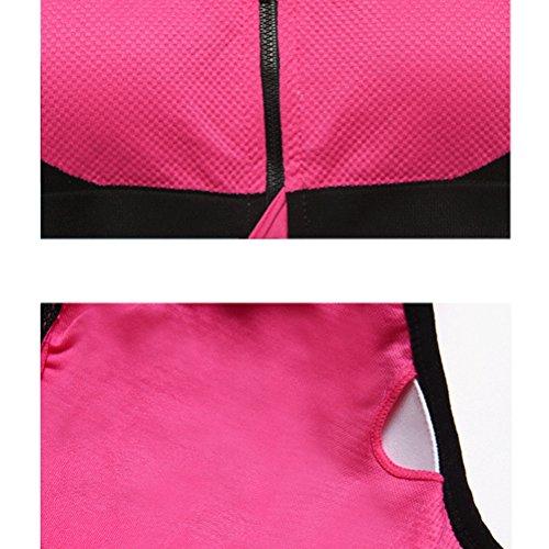 Zhhlaixing Women Seamless Sports Bra Exercise Pad Crop Top Vest Comfort Racerback Running Yoga Bras red