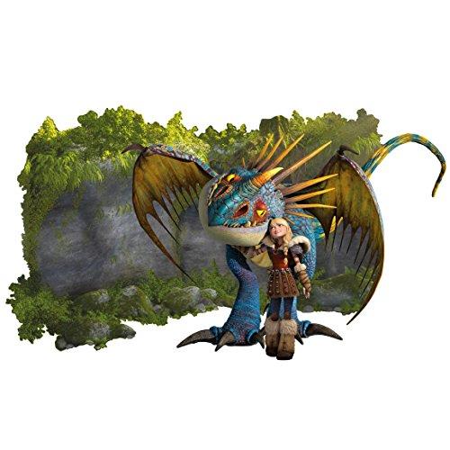 Bilderwelten Adesivo murale Dragons Astrid And Stormfly, Tatuaggio per...