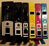 4x Druckerpatrone HP 364 Refill für HP Drucker mit Chip *SD534EE*XL*CN684EE*XL*CB325EE*XL*CB324EE*XL*CB323EE*CB316EE*CB320EE*CB319EE*CB318EE* Deskjet 3070A e-All-in-One 3520 e-All-in-One 3522 e-All-in