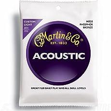 Martin 92/8corde per chitarra acustica–avvolgitura al bronzo al fosforoso (calibro leggero.011–.052)