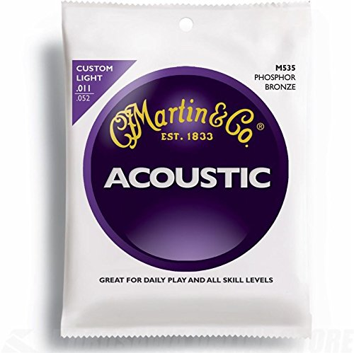 Martin Gitarrensaiten für Akustikgitarren (92/8, Phosphor-Bronze-Umwicklung, Stärke Custom / Light 0.011 - 0.052)