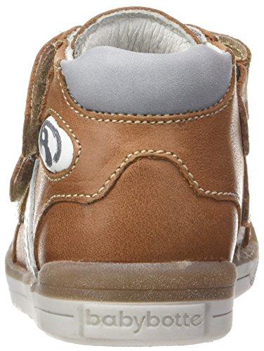 babybotte - B3velcro, Pantofole a Stivaletto Bambino Marrone (Cammello )