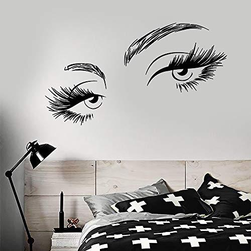 Neue Schöne Sexy Mädchen Wimpern WomanEyes vinyl wandaufkleber wohnkultur schlafzimmer aufkleber diy kunst wandbild tapete 42 * 102 cm