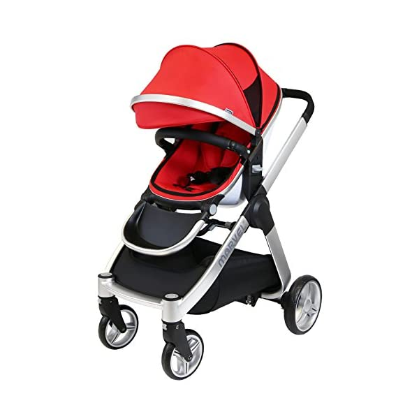iSafe Marvel 3in1 Travel System Includes Car Sea & Carrycot (Red Pearl) iSafe  2