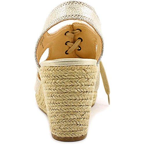 Bella Vita Gracia Femmes étroit Sandales Compensés Cracked Gold