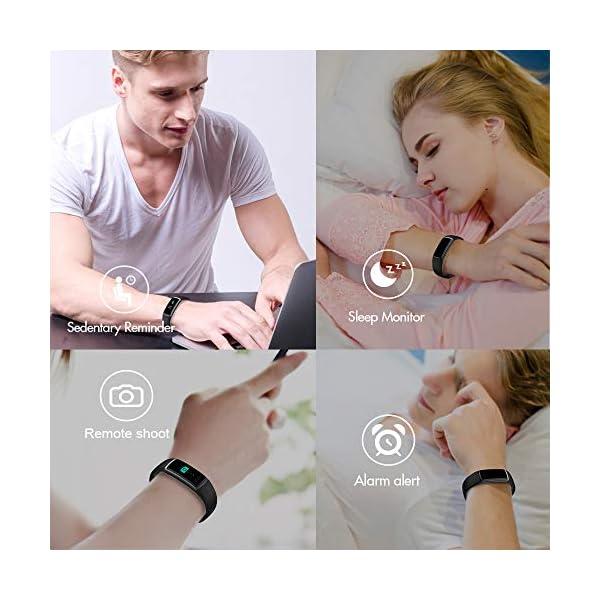 Huyeta Pulsera Actividad Inteligente Fitness Tracker Podómetro Monitor de Sueño Contador de Calorías Pulsera Inteligente… 6