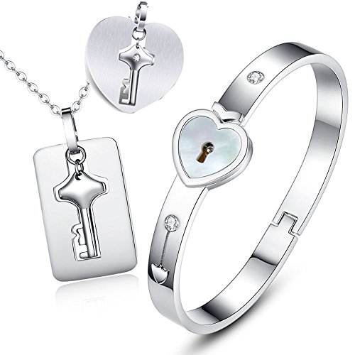 pearl-color-inlay-version-valentines-day-functional-lock-key-stainless-steel-couples-necklace-bracel