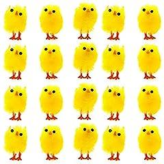 Idea Regalo - 36 Adorabili e Carinissimi Mini Pulcini Giocattolo Pasquali Soffici - Perfetti per la Tavola e Le Decorazioni per la Pasqua, caccia tesoro , Idea regalini fine festa para Bambini - (Set da 36)