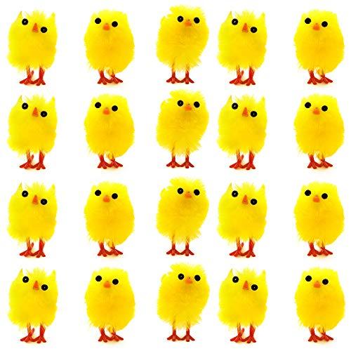 36 adorabili e carinissimi mini pulcini giocattolo pasquali soffici - perfetti per la tavola e le decorazioni per la pasqua, caccia tesoro , idea regalini fine festa para bambini – (set da 36)