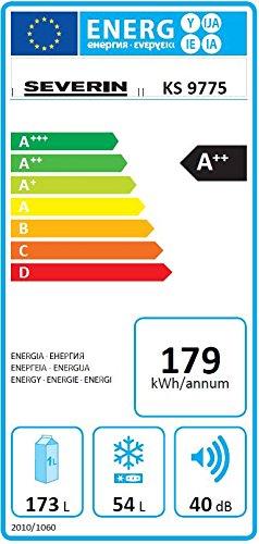 Kühlschrank schwarz von Severin Kühlgefrierkombination A++ - 2