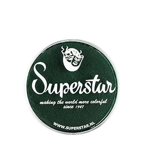 Unbekannt Superstar Gesicht Paint - Dark Green 241, hypoallergen, Glutenfrei & Cruelty Free - Kinderfreundlich, ideal für Messen, Karneval, Party & Halloween-Malerei (16 g)