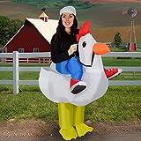 Inflable pollo granja Animal gordo golpe hasta disfraces hasta la divertida divertido traje traje adultos lindo Halloween partido novedad