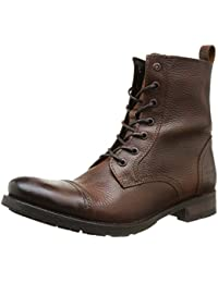 JACK & JONES Jj Savek Leather Boot Prm - Náuticos de cuero hombre