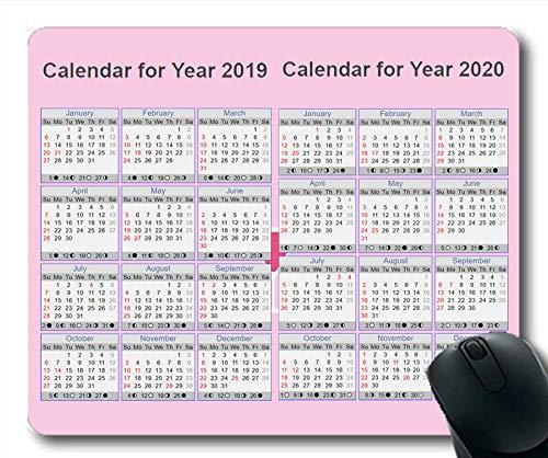 2019 Kalender-Mauspad groß, EIN Kalender Gaming-Mauspad, Kalenderplaner 2019 mit Feiertagsdetails