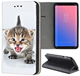 Samsung Galaxy S4 / S4 Neo Hülle Premium Smart Einseitig Flipcover Hülle Samsung S4 / S4 Neo Flip Case Handyhülle Samsung S4 Motiv (1325 Katzenbaby Kätzchen Katze Tier süß)