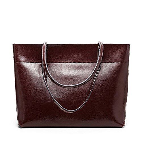 Anne, Borsa tote donna nero Brown A Coffee B