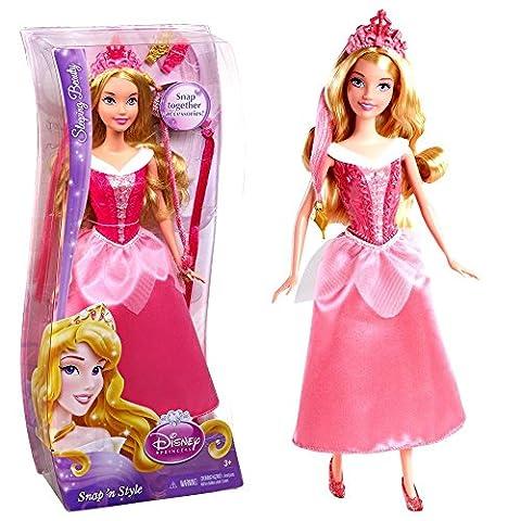 Disney Princess - Poupée Coiffure de Princesse La Belle au Bois Dormant Snap 'N Style Mattel