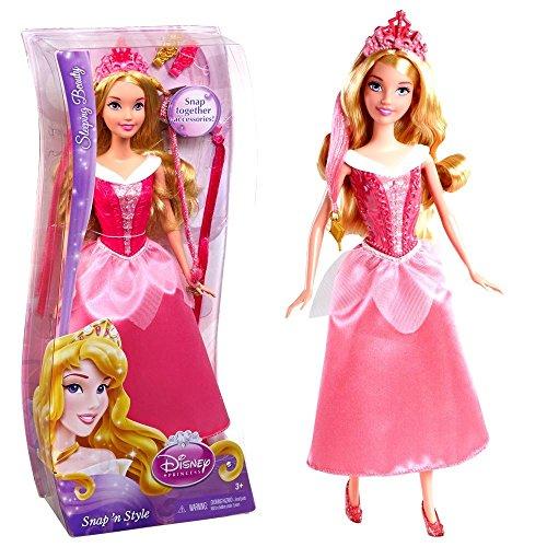 Mattel Haarspiel Puppe Dornröschen | Disney Princess | Snap 'N Style