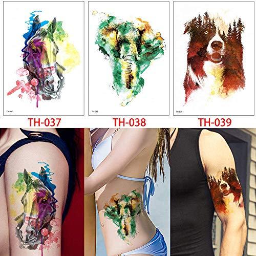 adgkitb Animal Tattoo Temporäres Wolf Leopard Bild Für Art Tattoo Sticker Papier 14.8x21cm