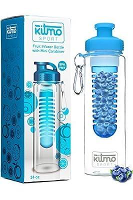 Wasserflasche mit Früchten Tee-Ei-700ml-Karabiner-Flip Top Deckel-Farbe Options