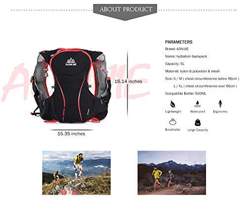 Imagen de outlife aonijie  hidratacion trail runningde nylon impermeable compatible para bolsa de agua de hidratación de 1,5 l para maratón, ciclismo, carrera, tamaño s/m alternativa