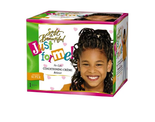Soft & Beautiful Kit Défrisant sans Soude pour Enfants Cheveux Normaux Regular 1 Application Just For Me