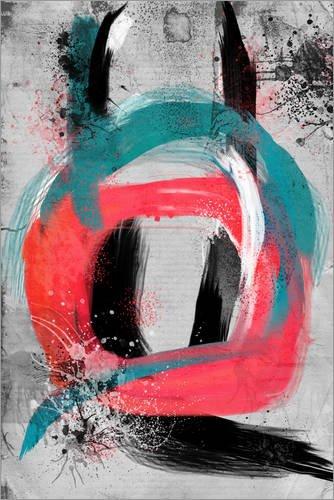 Poster 100 x 150 cm: Blau trifft Rosa an Einem bewölkten Tag von Rosa Picnic - Hochwertiger Kunstdruck, Neues Kunstposter