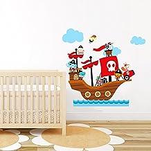 Animales de la selva en Corsair adhesivo decorativo para bebé pirata animal pared Decor Peel & Stick extraíble