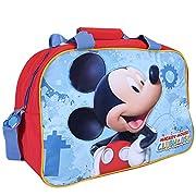 Borsa sportiva bambino Topolino - Borsone sport per palestra viaggio e tempo libero con stampa di Mickey Mouse - Rosso e Azzurro - 40x30x20 cm - Perletti