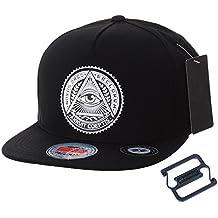 WITHMOONS Gorras de béisbol Gorra de Trucker Sombrero de Snapback Hat  Illuminati Patch Hip Hop Baseball 5cfbeed8f6e